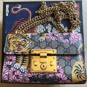 Gucci Supreme Bengal Cat shoulder bag